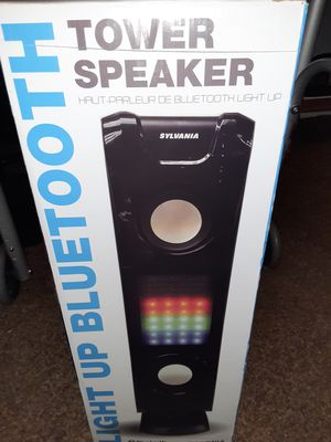 Sylvania light up Bluetooth tower speaker for Sale in Indianapolis, IN