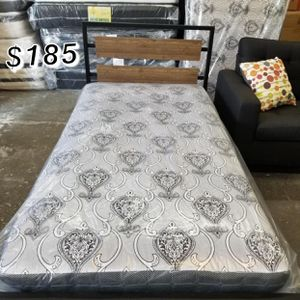 Twin bed frame with mattress included for Sale in Los Angeles, CA