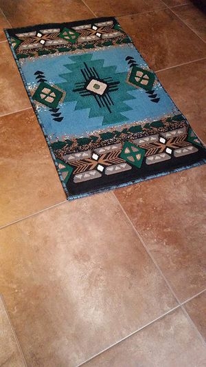 Blue and green color native design area rug brand new for Sale in Salem, OR
