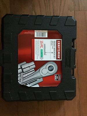 Craftsman socket wrench set 15 piece 1/2 drive for Sale in Baltimore, MD