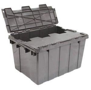 Heavy Duty Storage Box Tool Trunk Interlocking Plastic Top Flip Tote Camping for Sale in Santa Fe, NM