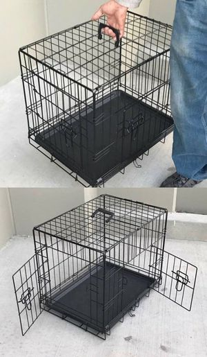 Brand new in box 24x20x17 Inches 2 Doors Pet Cage Dog Kennel Crate Foldable Portable collapsible dog cage jaula de perro for Sale in Whittier, CA