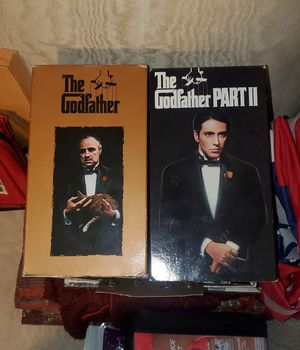 The Godfather (I & II) - VHS excellent condition for Sale in Nanticoke, PA
