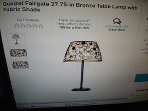 New in box Quoizel fairgate bronze table lamp with fabric shade for Sale in Beaverton, OR