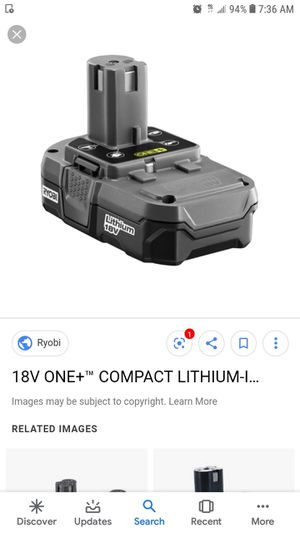 Ryobi battery for Sale in Downey, CA