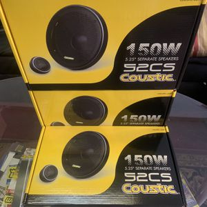 Coustic Car Audio 5 1/4 Inc Car Stereo Component Speakers 2 Mids 2 Tweeters 2 Crossovers New Years Super Sale $29 A Set While They Last . New for Sale in Mesa, AZ
