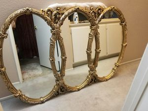 Gold Vintage. 3 Ring Mirror for Sale in Perris, CA