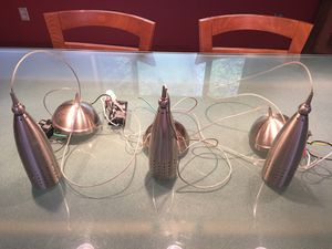 Stainless steel hanging light fixtures for Sale in Oakland, CA