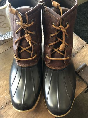 Sperry Rubber/Leather Boots for Sale in Saginaw, TX