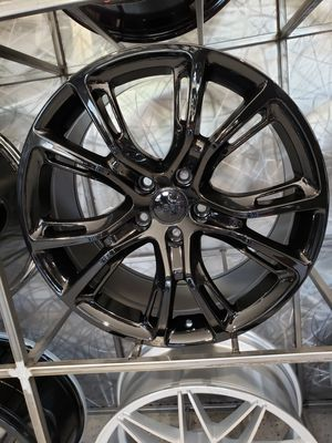 "$1199 set 22"" 5-127 SRT Jeep replica gloss black for Sale in Tempe, AZ"