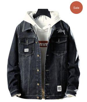 Fluffy Faux Fur Front Pocket Denim Jacket ( read the description👇) for Sale in West Springfield, VA