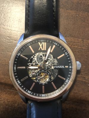 Men's Fossil Skeleton Watch for Sale in Evansville, IN