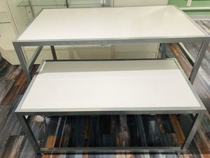 Large White Nesting Tables. Display your items in style! for Sale in Florissant, MO