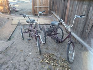 Three wheeler trikes for sale, ( like new ) for Sale in Lancaster, CA
