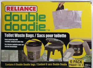 Reliance 2683-13 Double Doodie 2L Portable Camping Toilet Waste Bags (6 Pack) for Sale in Los Angeles, CA