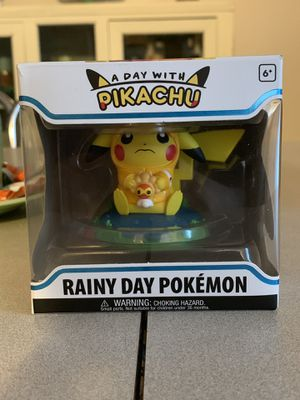 a day with pikachu. RAINY DAY POKEMON. pokemon center exclusive. for Sale in Las Vegas, NV