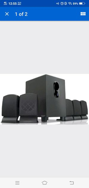 COBY CSP96 BLACK 300-WATT 5.1-CHANNEL HOME THEATER SPEAKER SYSTEM SUBWOOFER for Sale in San Francisco, CA