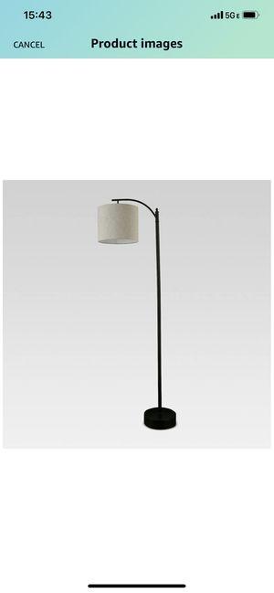 Threshold Black Downbridge Floor Lamp with Tan Shade for Sale in Newark, CA