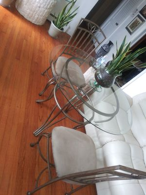 Table and 2 Chairs. Beveled glass in good condition for Sale in Richmond, VA