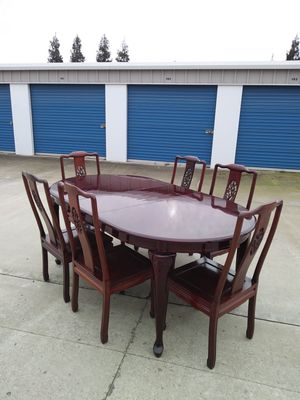 Beautiful Red Dining Table Rosemary Wood😍 for Sale in Modesto, CA