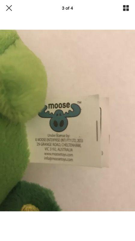 "Apple Blossom Shopkins Plush 7"" Toy Moose Enterprise Green Worm"