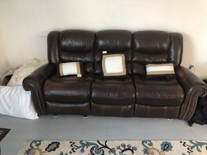Very comfy leather reclining couches for Sale in Los Angeles, CA