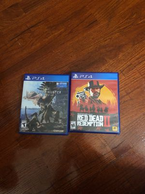 monster hunter& Red Dead Redemption 2 for Sale in Federal Way, WA