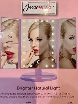Trifold LED Makeup mirror! Perfect for a Vanity! Super Bright. BRAND NEW for Sale in Lutz, FL