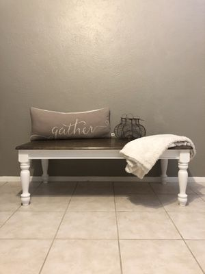 Farmhouse Cute Solid Wood Bench or Coffee Table for Sale in Scottsdale, AZ