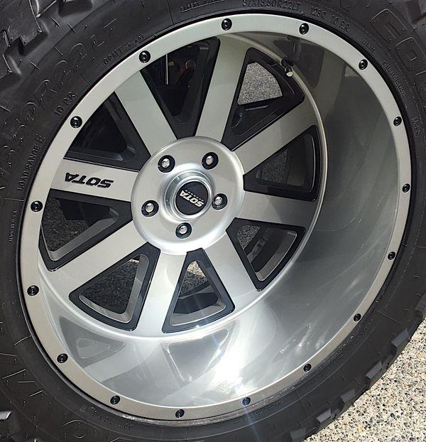 22x12 SOTA brand wheels (x5) brand new condition bolt ...