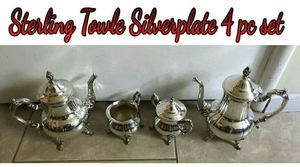 Silver plated 4 pc tea set for Sale in Hacienda Heights, CA