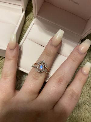 14K Rose Gold Diamond and Moonstone Rings for Sale in Amherst, OH