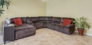 Chocolate Sectional Recliner Sofa for Sale in Phoenix, AZ