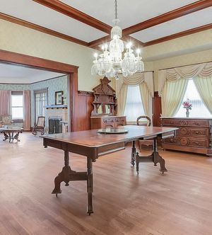 Antique Walnut Hand Carved Extendable Dining Table for Sale in San Francisco, CA