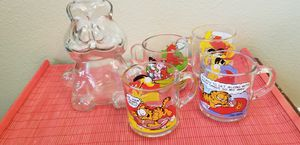 Garfield glass bank and mugs for Sale in Tampa, FL
