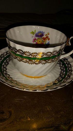 Emerald & Gold Vintage Fine Bone China for Sale in Fairfax, VA