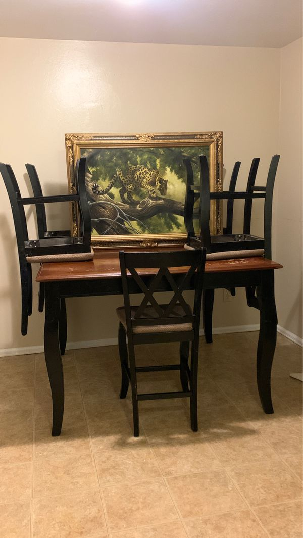3 ft tall kitchen table  5 chairs and picture 100 obo