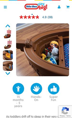 Pirate boat toddler to five year old bed for Sale in Chicago, IL