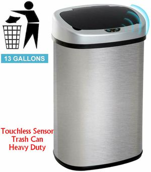 Touchless Sensor Stainless-Steel Trash Can Heavy Duty 13 Gal for Sale in Greenbelt, MD