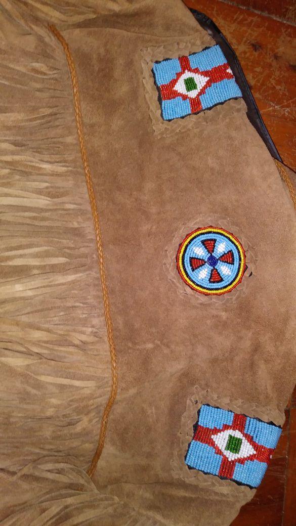 Indian Suede Jacket amazing beadwork