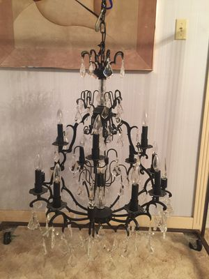 12 light metal and glass chandelier for Sale in Ada, OK
