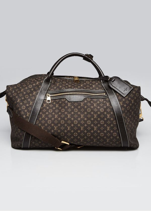 LOUIS VUITTON Fusain Monogram Idylle Canvas Odyssee Travel Bag