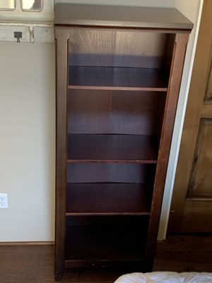 Wood Adjustable Shelved Bookcase for Sale in Gilbert, AZ