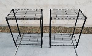 2 Metal Wire Shelf Stands - Great For Garage, Pantry, Closet Storage Organization - $20 for Both for Sale in Goodyear, AZ