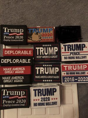 Trump Velcro back patches for Sale in Amazonia, MO