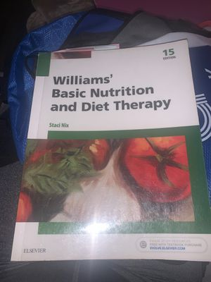 Williams Basic Nutrition and Diet Therapy for Sale in Fresno, CA