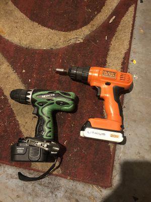 Black and decker and hitachi drills for Sale in Nashville, TN