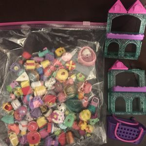 Bags Of Shopkins And Little Pony's With Accessories Stands for Sale in West Carson, CA