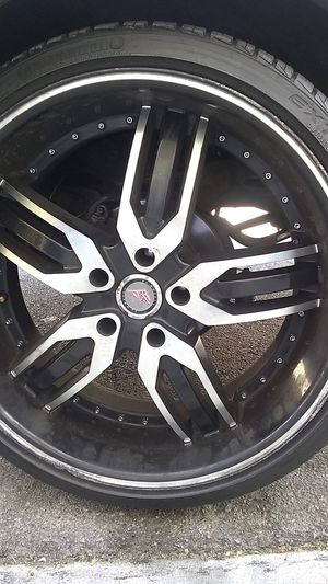 22 inch rims and tires for Sale in Las Vegas, NV