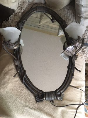 Iron Wall mirror lamp for Sale in Arlington, TX